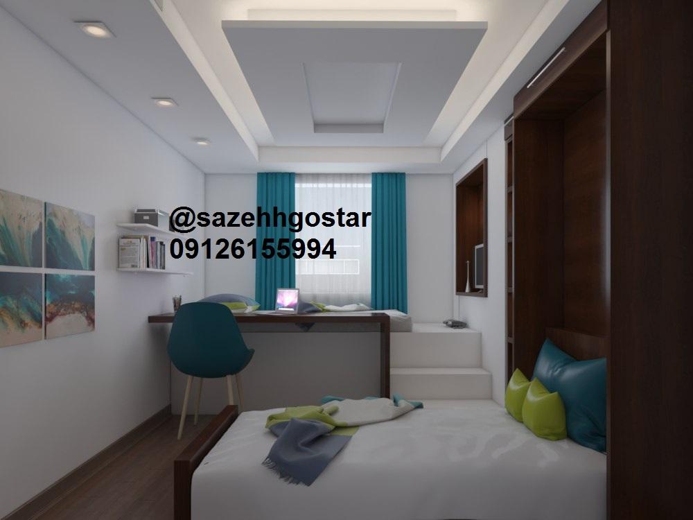 نمونه سقف کناف اتاق خواب پروژه سعادت آباد