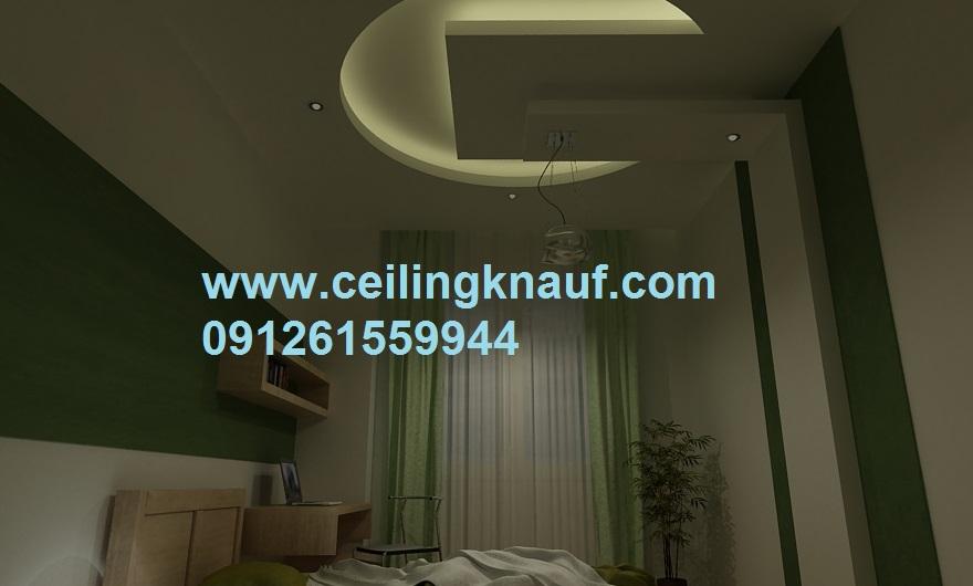 سقف کناف دکوراتیو اتاق خواب اجرا شده قیطریه