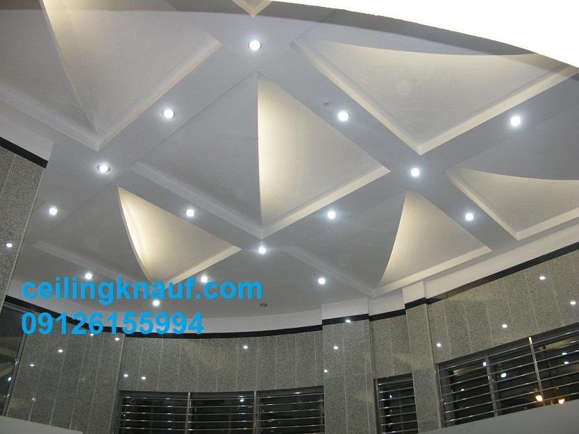 سقف کاذب کناف دکوراتیو سینسوی برای لابی