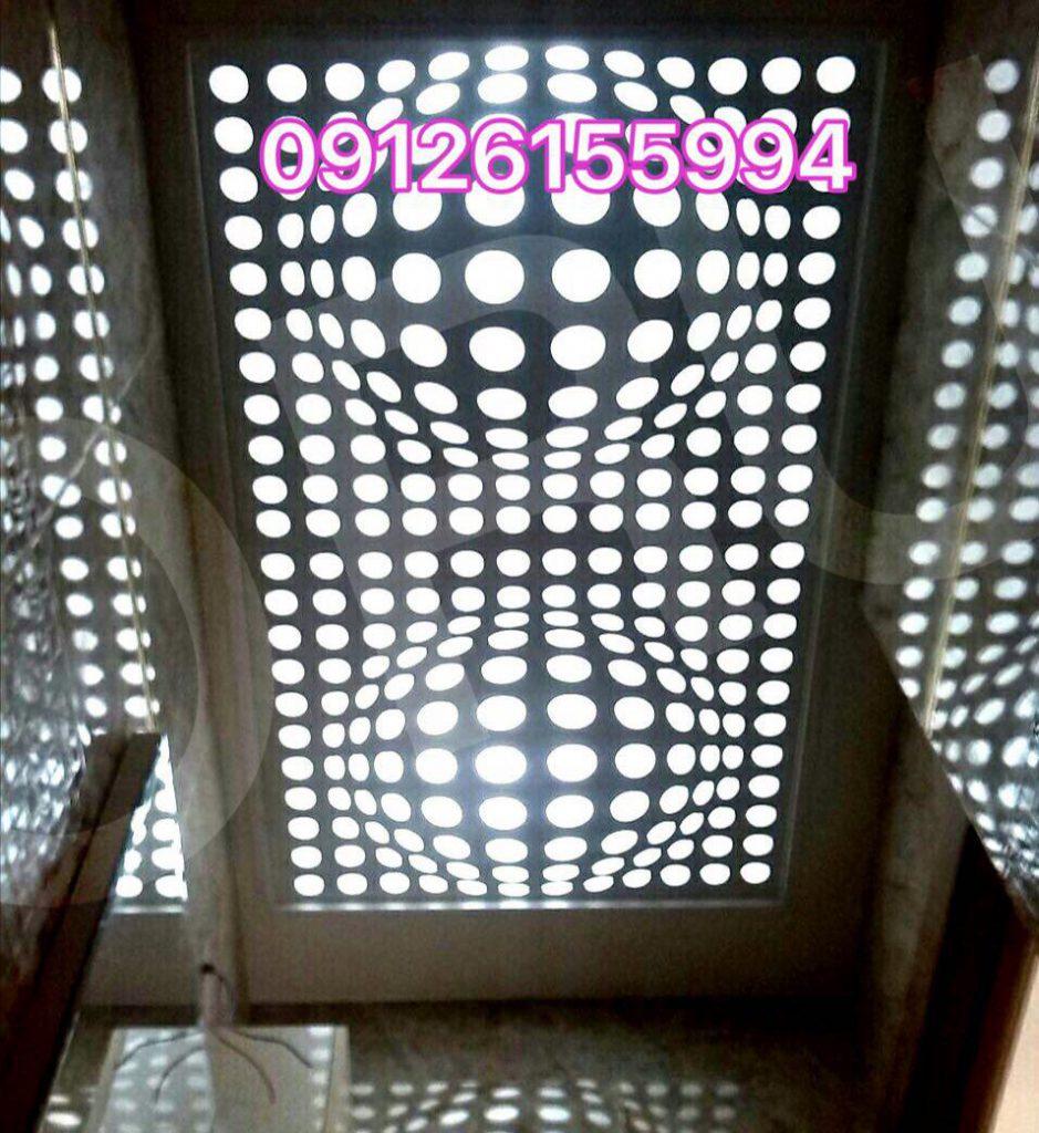 سقف کاذب سه بعدی سرویس بهداشتی