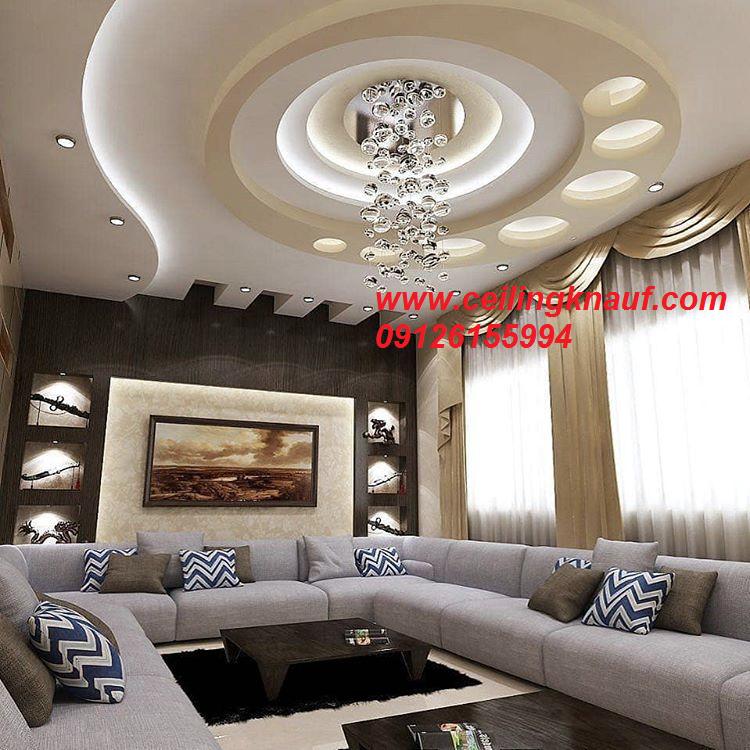 طراحی سقف کناف دکوراتیو پذیرایی