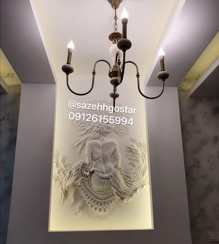 سقف کناف اتاق خواب سعادت آباد